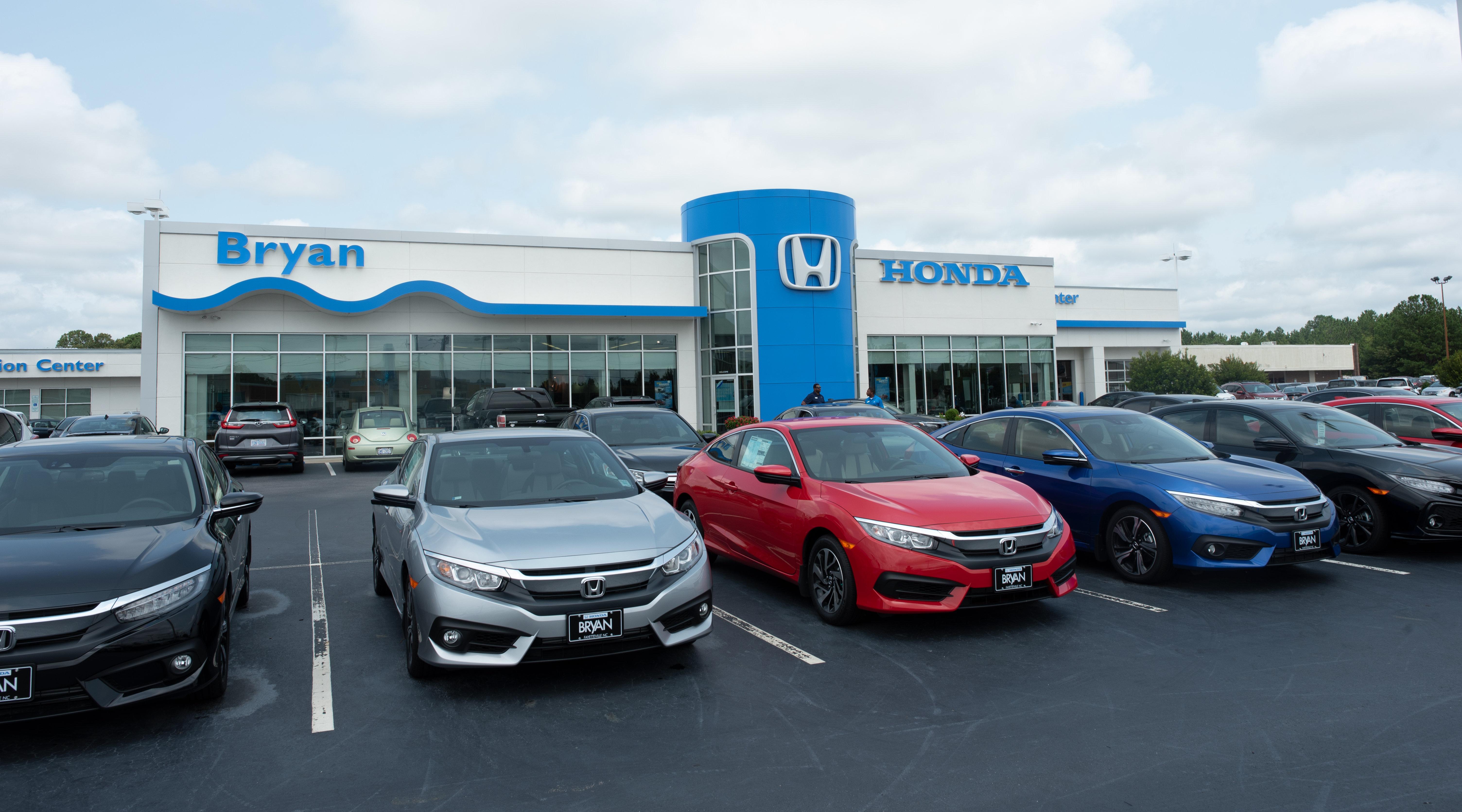 Exterior of Bryan Honda Dealership