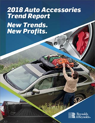 2018 Auto Accessories Trend Report Cover Image. New Trends. New Profits.