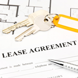 Keys on top of a lease agreement