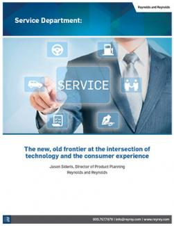 Service Department: The new, old frontier at the intersection of technology and the consumer experience