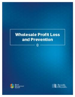 Cover of the Wholesale Profit Loss and Prevention eBook